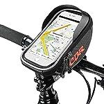Bike Bag Bike Pouch, Furado Bike Frame Bag Cycling Pannier Top Tube Waterproof Handlebar Bags, Bike Pouch Phone Holder, Bicycle Bag Touch Screen for Smart Phone Below 6 inch