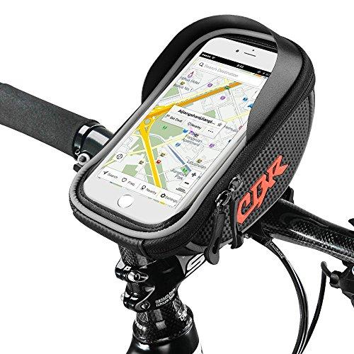 Bicicletta Borsa Manubrio, Furado Borse da Telaio Impermeabile Touch Screen Cellulari Supporto, Bici Della Bicicletta Del Borsa Del Tubo Telaio Frontale in PVC Trasparente di per 6 ' Cellulare