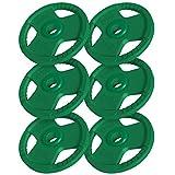 GORILLA SPORTS® Hantelscheiben-Set 30 kg Gummi Gripper – 6 x 5 kg Gewichte mit 50/51 mm Bohrung Olympia