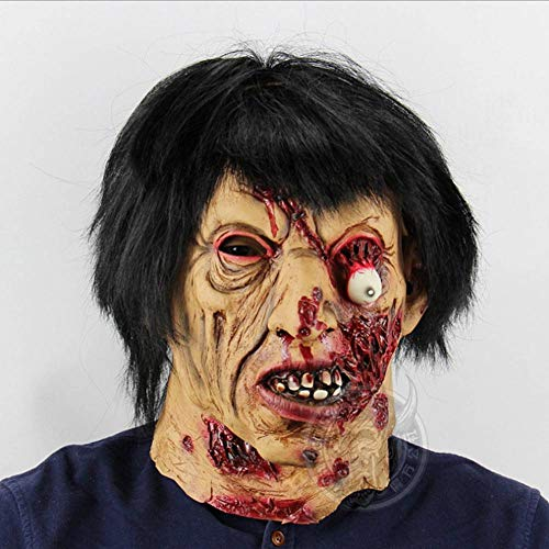AIYA Scary Black Hair Zombies Halloween Flucht Spukhaus Großhandel Requisiten Scary Latex Zombie Ghost Mask