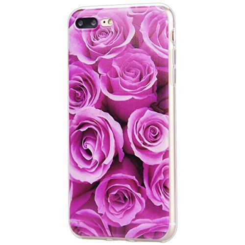 iPhone 6 / 6S Coque HB-Int 3 en 1 Blanc TPU Housse Etui pour iPhone 6 / 6S 4.7'' Originale Motif Coque Gel Silicone Souple Case Couverture Ultra Slim Cover Flexible Bumper Protecteur Fonction Anti Cho Fleur Romantic Rose