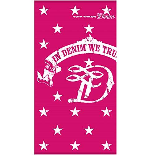 Tom Tailor unisex Bath Strand-Handtuch mit Sternen pink 85/160