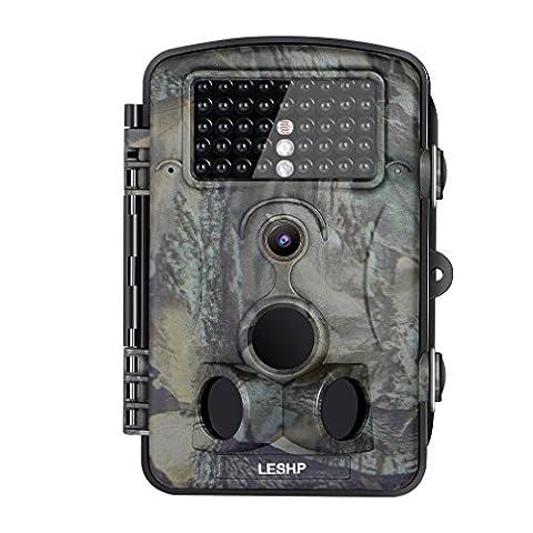 Caméra de Chasse Surveillance Vidéo 120° LESHP avec Ecran LCD 2,4