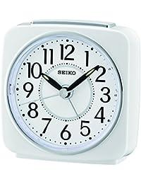 Seiko Unisexe qhe140W Réveil analogique Plastique Blanc