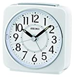 Seiko Unisex sveglia analogica in plastica biancao QHE140W