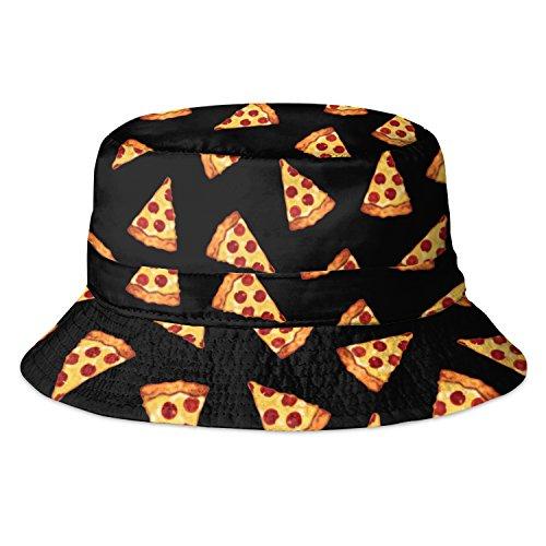 Fringoo Herren Fischerhut Black Pizza