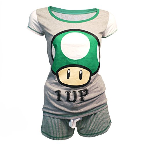 Nintendo Shortama (Damen) -S- Mushroom 1 Up
