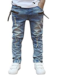 domybest domybest Big Boys Jeans niños pantalones vaqueros vaquero diseñadores Jeans tamaño 1–6y para spring-autumn