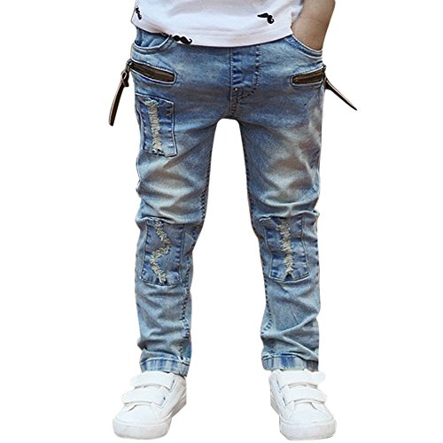 Domybest Big Boys Jeans Pants Kids Casual Wash Blue Denim Trousers (For 5-6Y, Blue)
