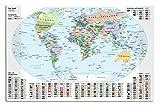 Schreibtischunterlage / Größe: 68x44cm / Weltkarte