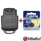VW Schlüsselgehäuse Gehäuse Schlüssel Fernbedienung inkl. Batterie - 3 Tasten - passend für: Sharan + Touran