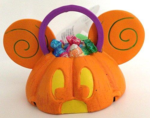 Disney Parks Mickey Maus Ohren hat Light Up Kürbis Ornament New Halloween