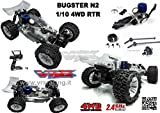 Bugster N2 1/10 Off-Road mit Verbrennungsmotor Go.18 Getriebe 2 Gang Radio 2.4 GHz Fly Sky 4 WD RTR VRX