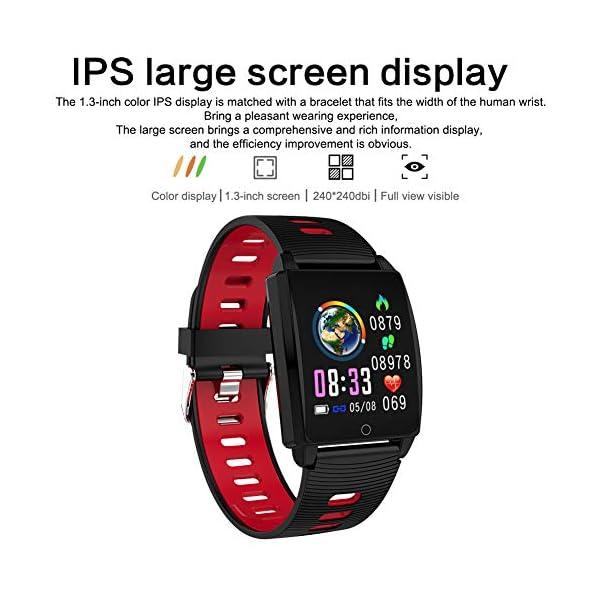 SmartWatch, Padgene Reloj Inteligente IP67 Impermeable Bluetooth Pulsera Actividad Deportiva Múltiples Lenguajes con Pulsómetro Monitor de Sueño, Música, Notificación de Llamada Mensaje para Android e iOS 4