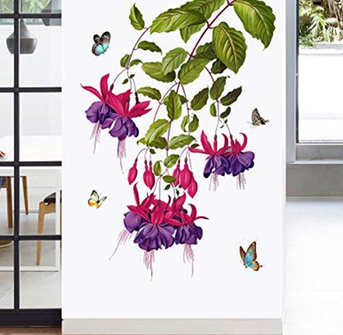 akeansa Wall Stickers Art Sticker Murals Decal Decals Children Vinyl Butterfly Flowers Walls Home Decor Wallpaper Poster Hallway TV Headboard Wall Decals Decoration Wall Graphic Mural -