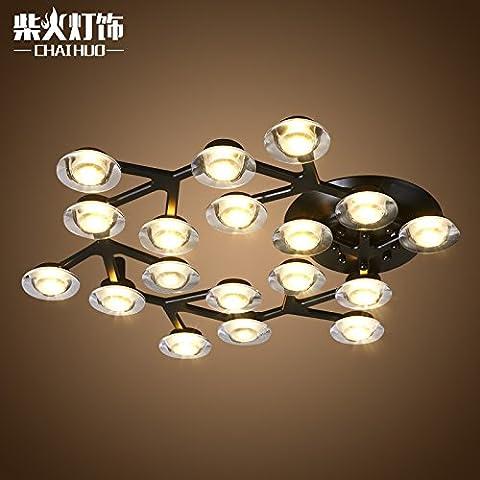 Creative Mui Lanterna stelle soffitto rettangolo di luce LED A SOFFITTO Ristorante personalità artistiche minimalista (Esterno Montaggio A Parete Lanterna)