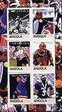 Angola 2000 Sports Legends (Steffi Graf M Jordan Joe DiMaggio W Paxton W Gretsky P Stewart) PERSONALITIES SPORT TENNIS BASKETBALL BASEBALL JandRStamps