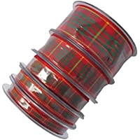 Tartan Ribbon Cornish National 10mm 16mm 25mm 38mm 1 2 5 or 10 Metres