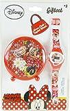 Coffret cadeau = Réveil 9cm + montre digitale MINNIE Disney rouge (Piles non incluses)