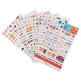 MagiDeal 6 Blätter Cute Transparent Aufkleber Sticker DIY Tagebuch Scrapbooking Deko