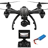 Dazhong JXD Quadcopter 507G 5.8G Drone FPV con 2.0MP HD Cámara Barómetro Set Alta una clave de retorno sin cabeza 2.4G 4Ch 6 ejes RC Quadcopter + baterías extra