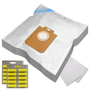 Lot de 20sacs d'aspirateur/Sacs à poussière/Sacs filtrants + 20Parfum Convient pour Philips Jewel FC9076