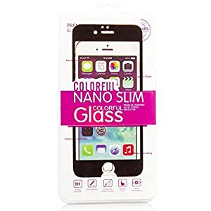 "BEST iPhone 6 Plus 5.5"" Screen Protector Tempered Glass Protection Premium Ballistic Nano Slim COLORFUL (Black)"
