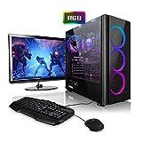 Megaport Super Méga Pack - PC Gamer Complet 6-Core AMD Ryzen 5 • Ecran LED 24' • Claviers de Jeu et Souris • GeForce GTX1060 6Go • 16Go • 240Go SSD • 1To • Win10 PC Gaming PC Complet
