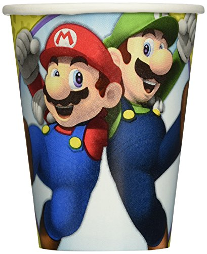 Amscan 581554 266 ml Super Mario Pappbecher (Mario Dress Up)