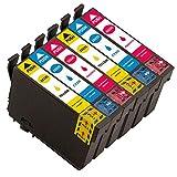 kompatibel Epson 502XL 502 XL Druckerpatronen für Epson XP-5105 XP-5100 XP5105 XP5100 Workforce WF-2860DWF WF-2865DWF WF-2860 WF-2865 (Workforce WF-2860DWF, 2Cyan/2Magenta/2Gelb)