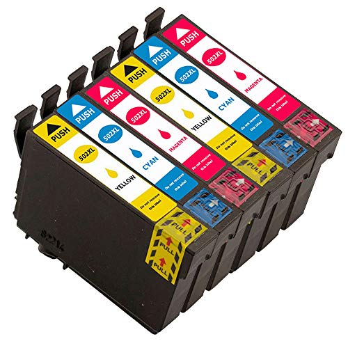Cartucce di inchiostro compatibili di alta qualità per Epson 502 XL per Epson XP-5100 XP-5105 Workforce WF-2860DWF WF-2865DWF WF-2860DWF 2cyan /2magenta /2jaune