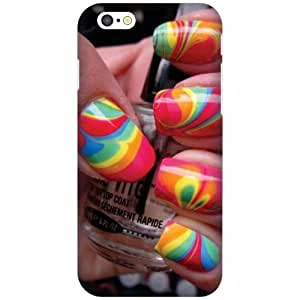Apple Iphone 6S Silicon Back Cover - Multicolor Designer Cases Cover By Printland