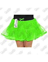 Unbranded Girls Womens Ladies 4 Layer Tutu Skirt Hen Night Fancy Dress Party NEON Dance