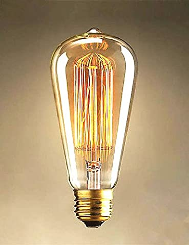 40W Edison ST64 Straight Wire light Bulbs Edison Art Decoration Light,110V,E26/E27#220
