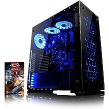 VIBOX Nebula GL530-26 Gaming PC - 4,1GHz Intel i5 Quad Core CPU, GPUGT730, Presupuesto, Ordenador de sobremesa para oficina Gaming vale de juego, con unidad central, Iluminaciàninterna azul (3,5GHz (4,1GHz Turbo) SuperrápidoInteli5 7600Quad 4-CoreCPUprocesador de Kabylake, Tarjeta gráficadedicada de 2GBNvidia GeforceGT730GPU, 16 GB 2133MHzDDR4RAM, Unidad de estadosàlidoSSD de 240GB, Discoduro2TB, 85+ PSU400W, Gamemax Caja, Ningún sistema operativo)