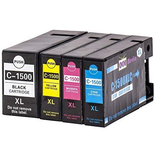 Bk Kompatible Tinte (4er Set - kompatible Tintenpatronen zu CANON PGI-1500XL | 1x BK/C/M/Y - Schwarz 38ml & Farben je 18ml | geeignet für Canon Maxify MB2050 / MB2150 / MB2155 / MB2350 / MB2750 / MB2755)