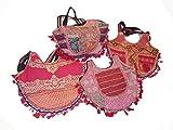 India colors. Hindu Tasche mit einzigartigem Design (Nr. 2 sind gleich). Handwerklich Handgefertigt in Indien. Stoffe mit Gold und Inlays bestickt. Erste Qualität (Rosa)