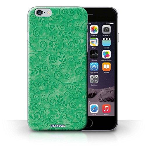 Kobalt® Imprimé Etui / Coque pour iPhone 6+/Plus 5.5 / Turquoise conception / Série Motif Feuille Remous Vert