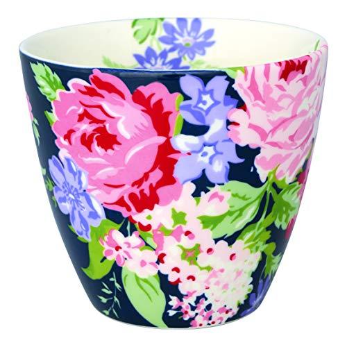 GreenGate STWLATROS2206 Rose Latte Cup Dark Blue 9 cm (1 Stück) Blue Rose Cup