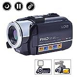 MARVUE Videokamera Camcorder Full HD 1080p Kamera Nachtsicht Hot Shoe 3 Zoll Screen Digital Kamera