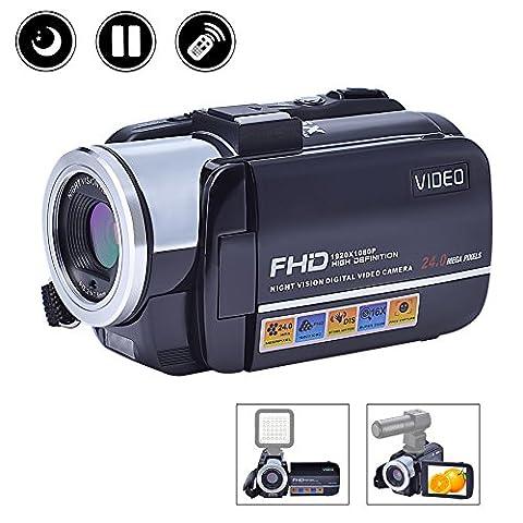 Videokamera Camcorder Full HD 1080p Kamera Nachtsicht Hot Shoe 3 Zoll Screen Digital Kamera