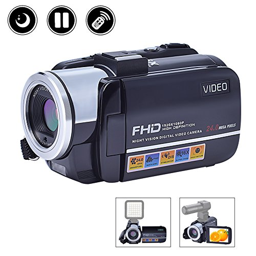 Videokamera Camcorder Full HD 1080p Kamera Nachtsicht Hot Shoe 3 Zoll Screen Digital Kamera
