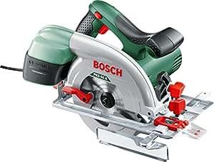 Bosch PKS 55 A Sega Circolare, 1200 Watt, Profondità del Taglio a 90°/45°, 0-55 mm, 0-38 mm, in Cartone