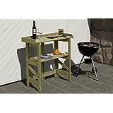 Mesa de jardín (67078) L90x 42x H97cm, mesa, mesa para plantas, jardín, inmediata listo para usar, estable, uso individual., fácil y rápido plegable de jardín Mundo cerrojo Berger