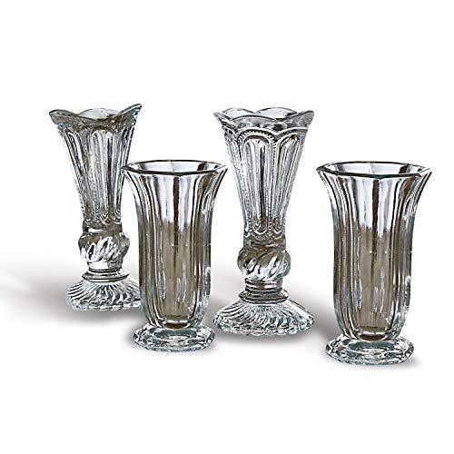 Loberon Vase 4 er Set Filla, Glas, H/B/T/Ø ca. 34/23 / 12/7,5 cm, klar