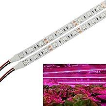 (Paquete con 5) xjled 2015new 0,5m/rayas 5W LED crecen Luz Bar flexible suave rayas de luz 30pcs 5050SMD 25red + 5Blue DC 12V para Plantas Jardín Invernadero Agua Cultura Sistema–Juego de Instalación