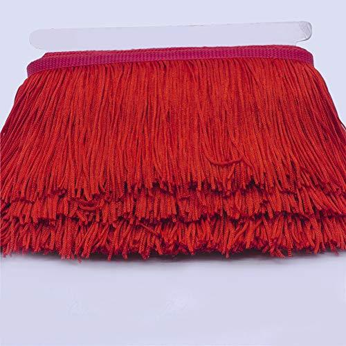 Kostüm Dance Vorhang - Chainette Fringe 15cm Lampenschirme Crafting Lightweight Apparel Dance Kostüm Strick Lace Trim Home Vorhänge Dekorative Quaste Soft(Rot)