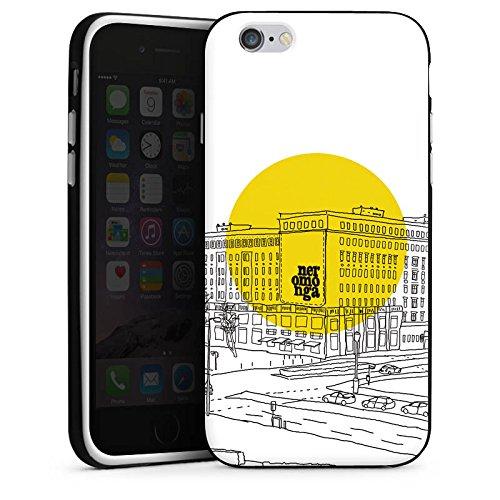 Apple iPhone 5s Housse Étui Protection Coque Berlin Dessin Blanc Housse en silicone noir / blanc