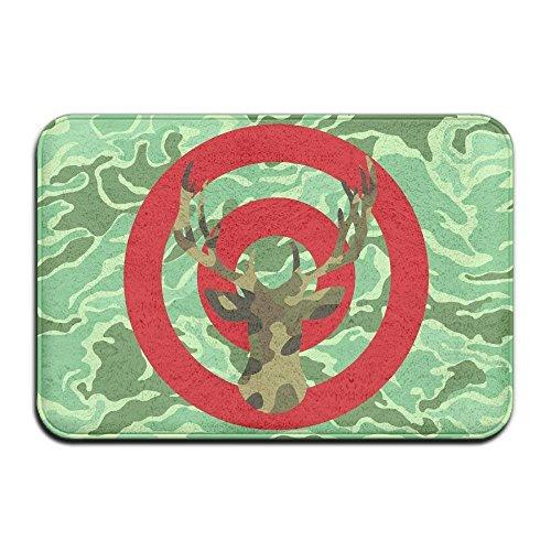 shizh Weiche, rutschfeste Camo Archery Deer Hunting Bullseye Badematte Coral Fleece Area Rug Fußmatte Eingangsteppich Fußmatten -
