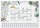 Sigel HO540 Papier-Schreibunterlage mit 20 verschiedenen Blättern zum Ausmalen und 3-Jahres-Kalender, ca. DIN A2 - weiteres Modell